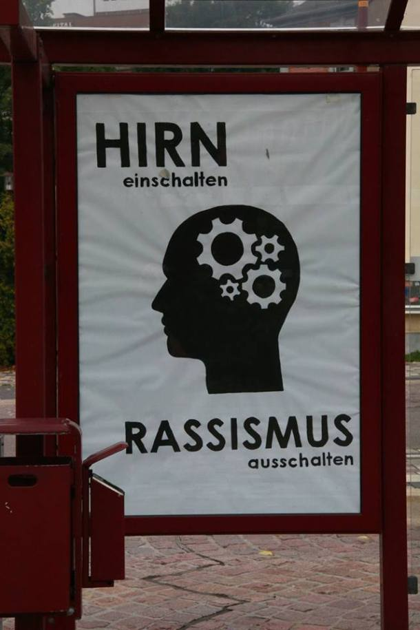 Freital billboard immigration 2