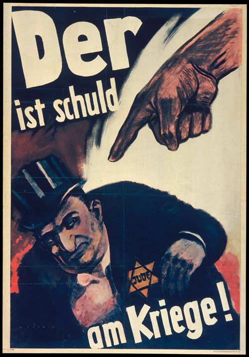 he-is-guilty-of-the-war-1943-anti-jewish-poster-by-mjolnir