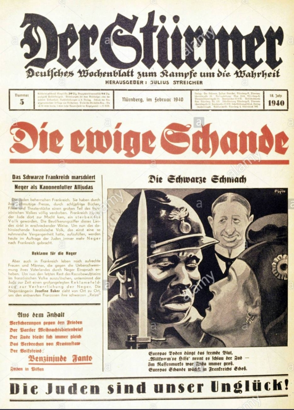 nazism-national-socialism-press-newspaper-der-strmer-number-5-nuremberg-AFMMHD