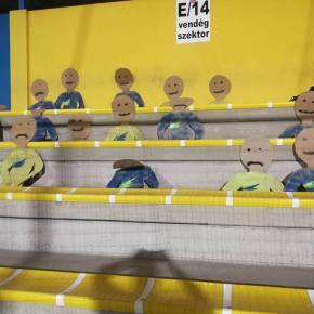 Cardboard Fans Fill Empty FootballStadiums