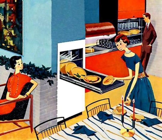 "The ""dream dishwasher"" for 1962 from a 1955 ad"