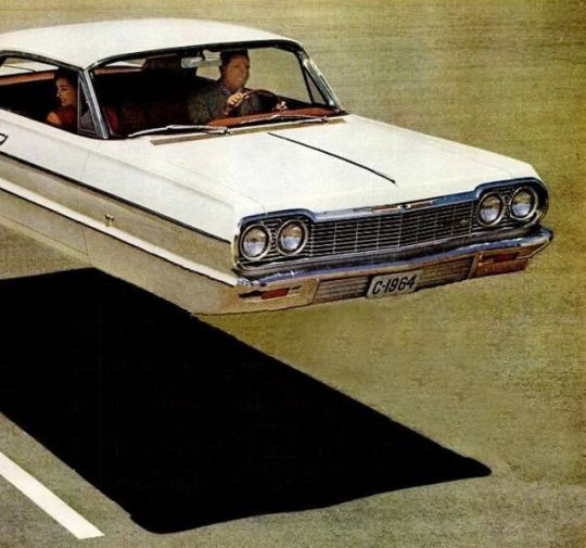 The Jet-Smooth Ride feels like this, Chevrolet 1964