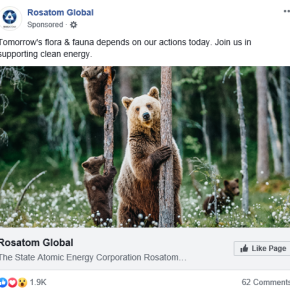 Rosatom really, really wants me to know that they are clean energy