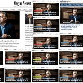 Orbánist media announces that Hungarian media is totally free – on 18 identical frontpages