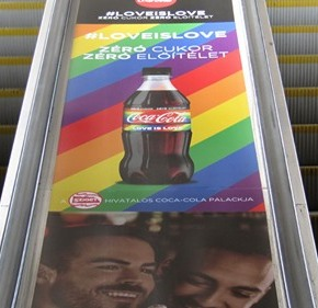 "Coca-Cola fined for showing homosexual couples on ads and ""damaging the moral development of young people"""