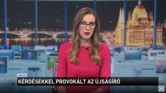 """Journalist was provoking by asking questions"" (Hungarian state broadcaster's evening news)"