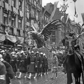 They invented a new parade and copied Leni Riefenstahl beat bybeat